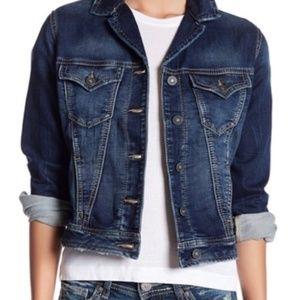 Silver Jeans Co. Joga Cropped Denim Jean Jacket